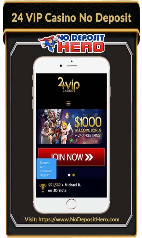 24 VIP Casino Bonus Code