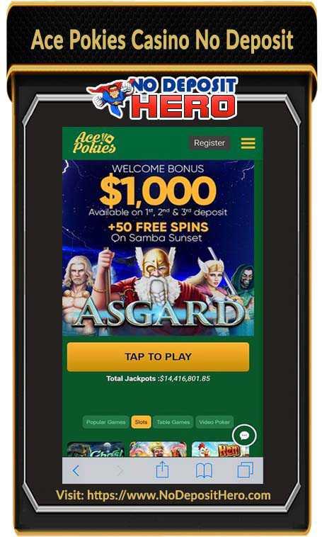 Ace Pokies Casino No Deposit Bonus Code