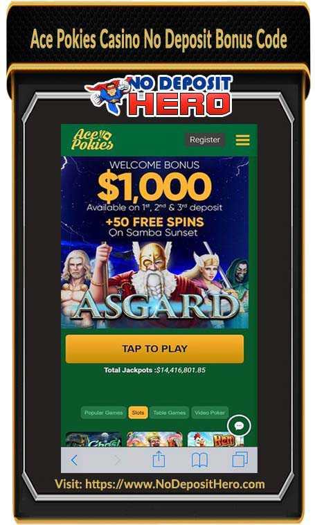 Ace Pokies Casino No Deposit