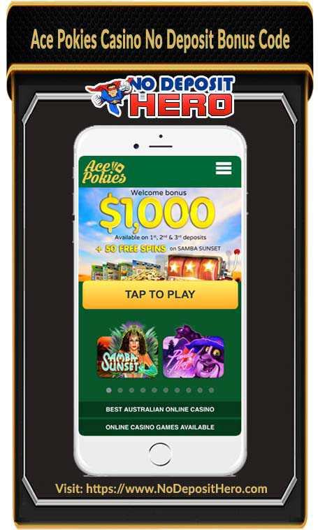 Ace Pokies Casino Bonus Code