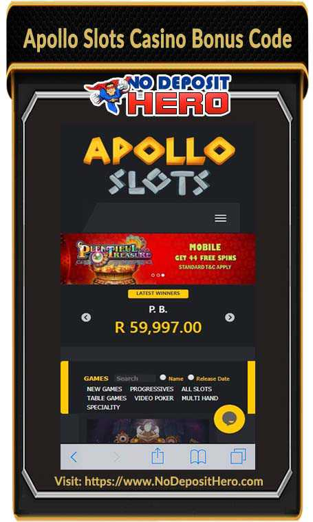 Apollo Slots Casino Bonus Code