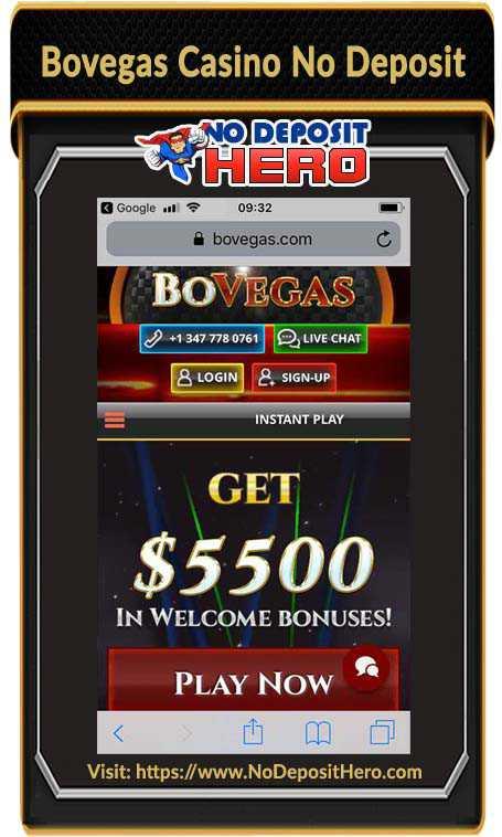 Bovegas Casino No Deposit Bonus Code