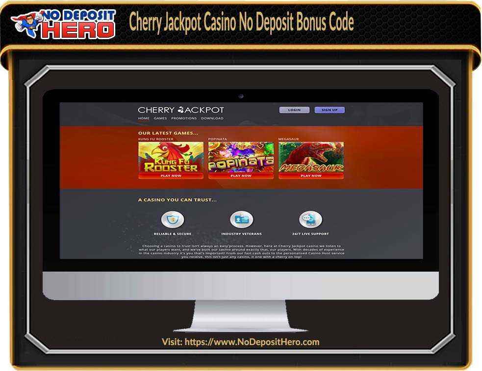 Cherry Jackpot Casino No Deposit Bonus Code