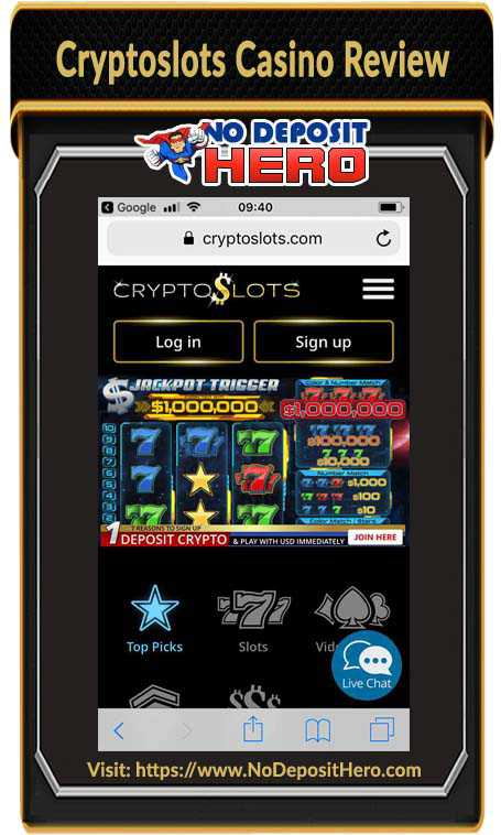 Cryptoslots Casino No Deposit