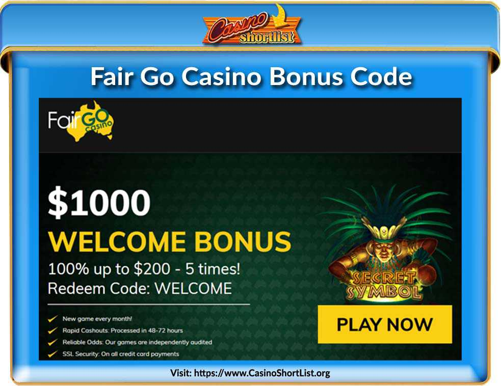 Fair Go Casino Bonus Code
