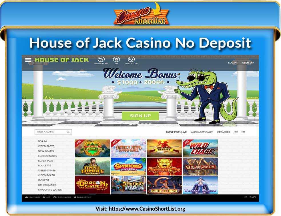 House of Jack Casino No Deposit Bonus Code