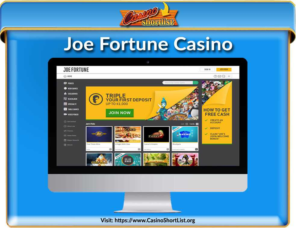 Joe Fortune Casino No Deposit Bonus Code