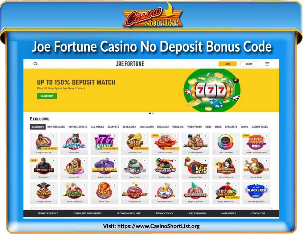 Joe Fortune Casino No Deposit