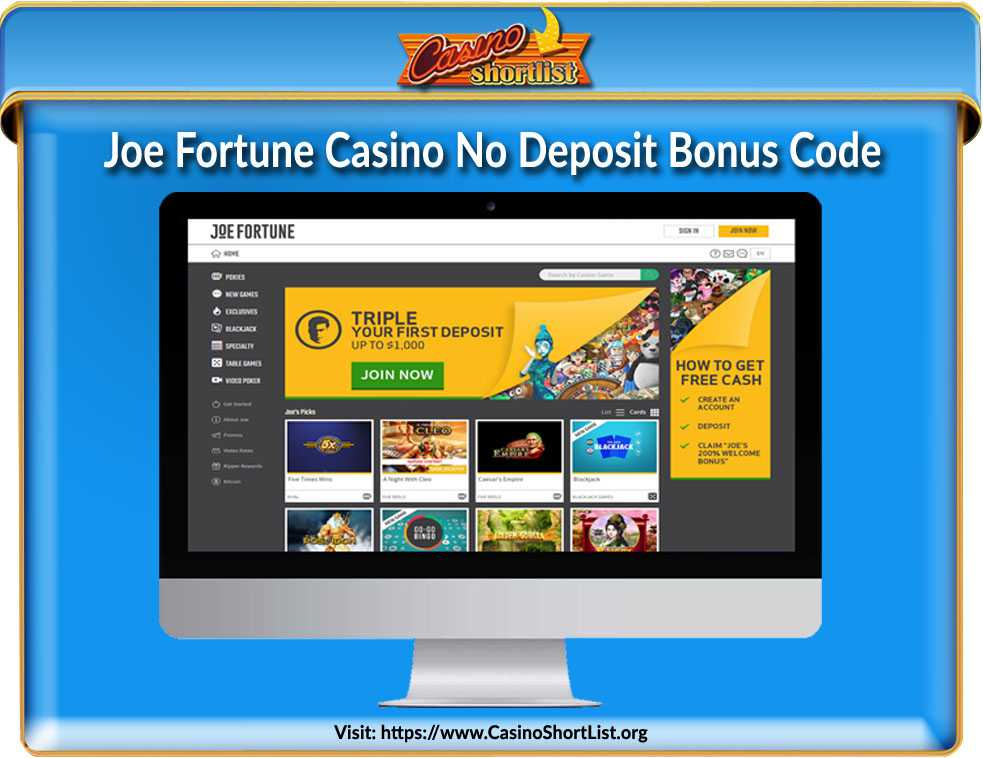 Joe Fortune Casino Bonus Code