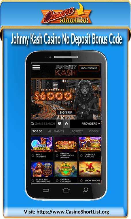 Johnny Kash Casino No Deposit Bonus Code