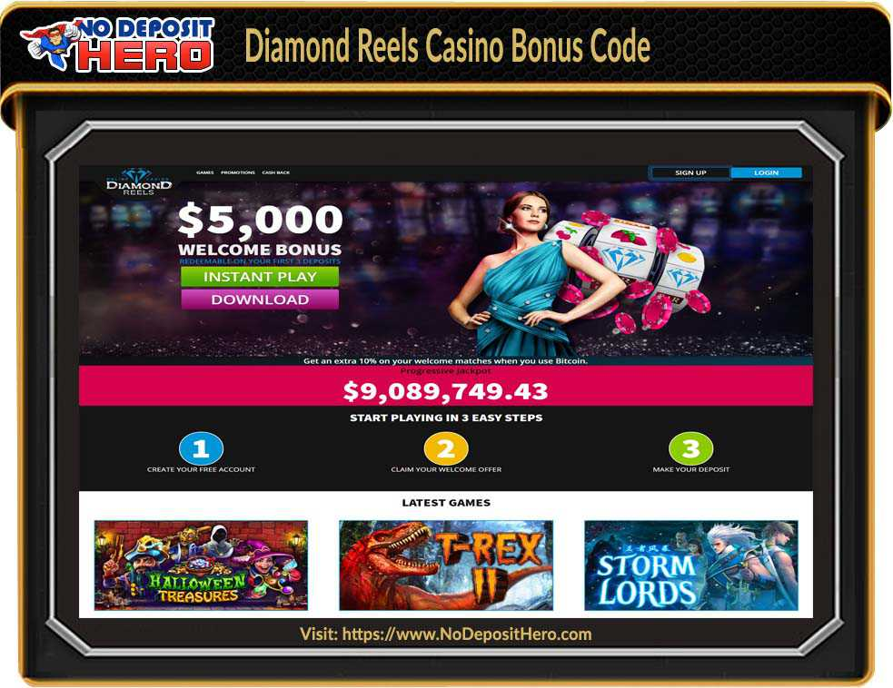 Diamond Reels Casino No Deposit Bonus Code