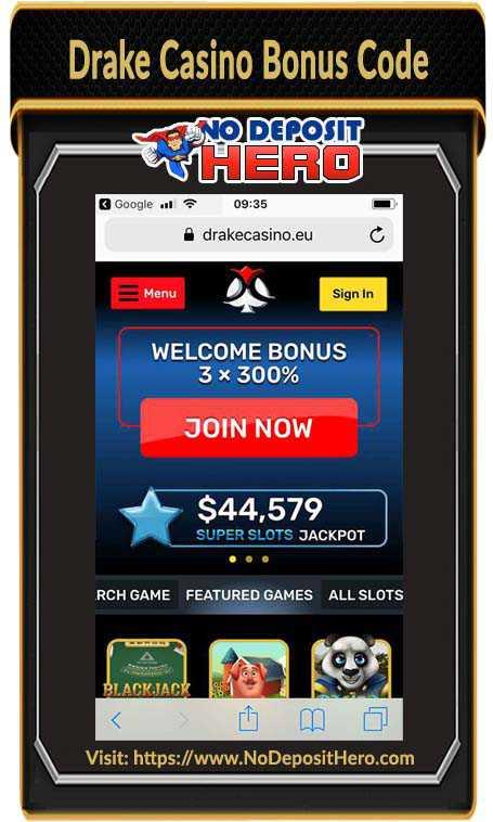 Drake Casino Bonus Code