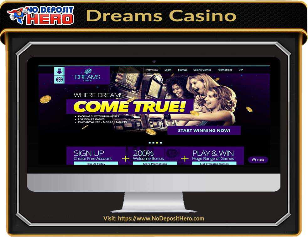 Dreams Casino No Deposit Bonus Code