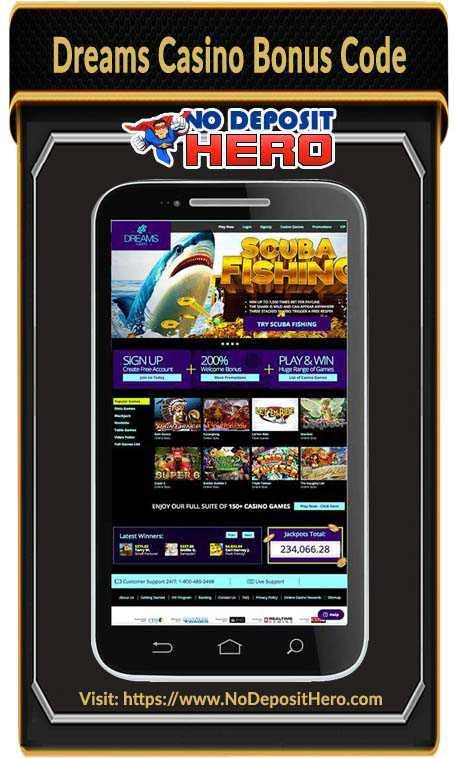 Dreams Casino Bonus Code