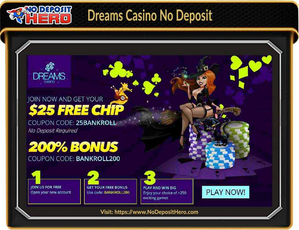 Dreams Casino No Deposit Bonus Code