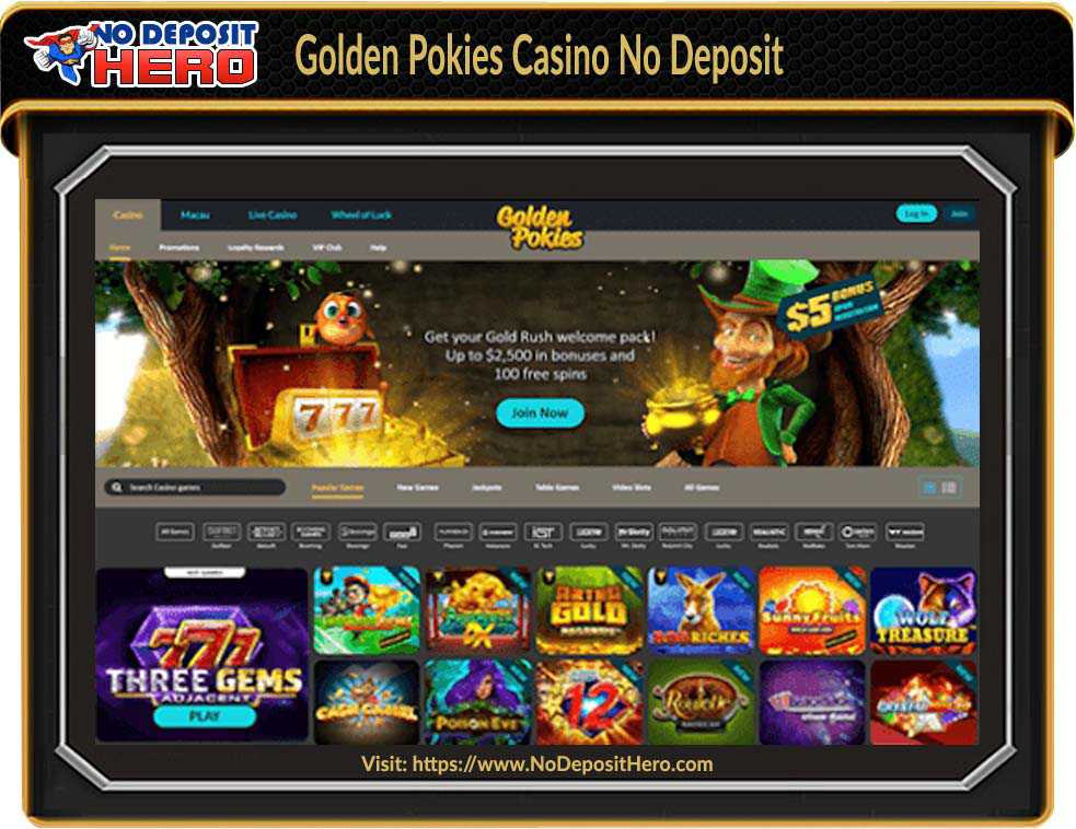 Golden Pokies Casino No Deposit