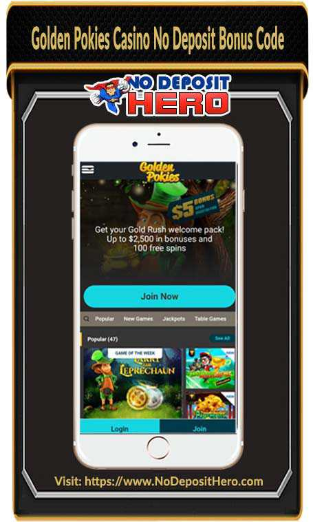 Golden Pokies Casino Bonus Code