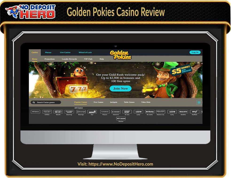 Golden Pokies Casino No Deposit Bonus Code
