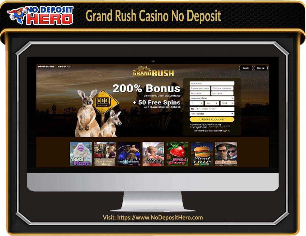 Grand Rush Casino Bonus Code