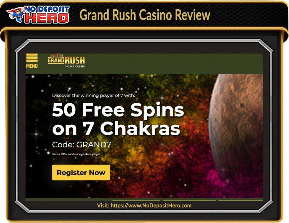 Grand Rush Casino No Deposit Bonus Code