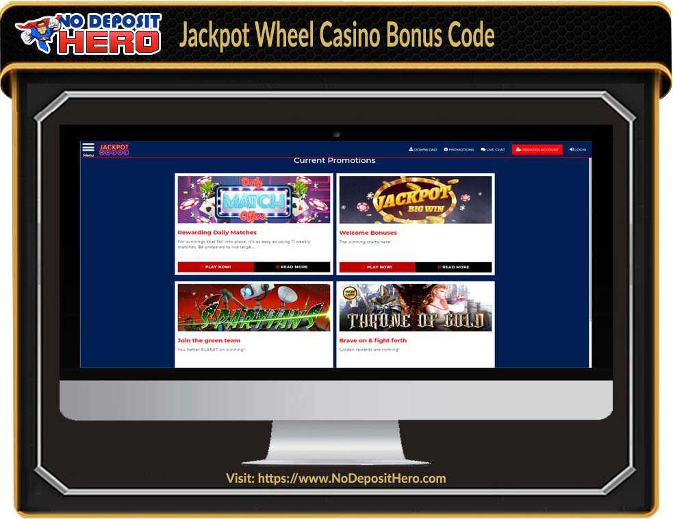 Jackpot Wheel Casino No Deposit Bonus Code