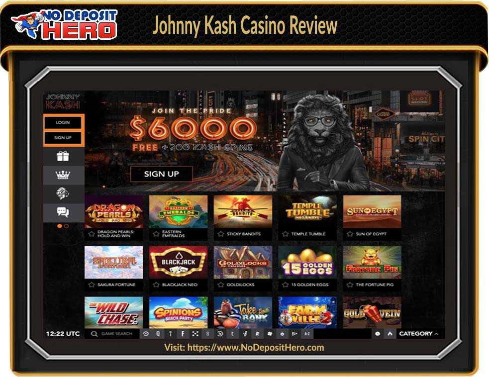 Johnny Kash Casino Bonus Code