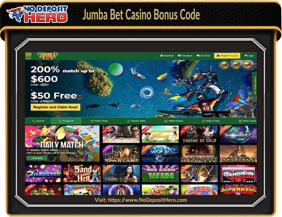 Jumba Bet Casino No Deposit Bonus Code