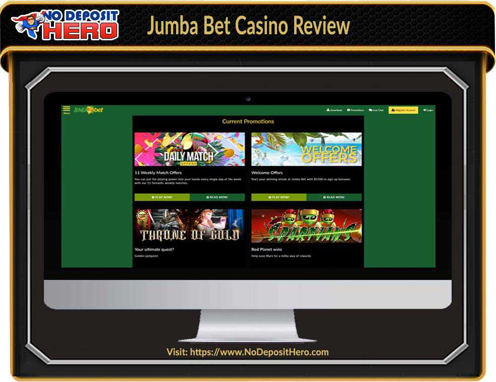 Jumba Bet Casino No Deposit