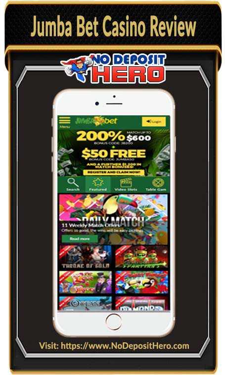 Jumba Bet Casino Bonus Code