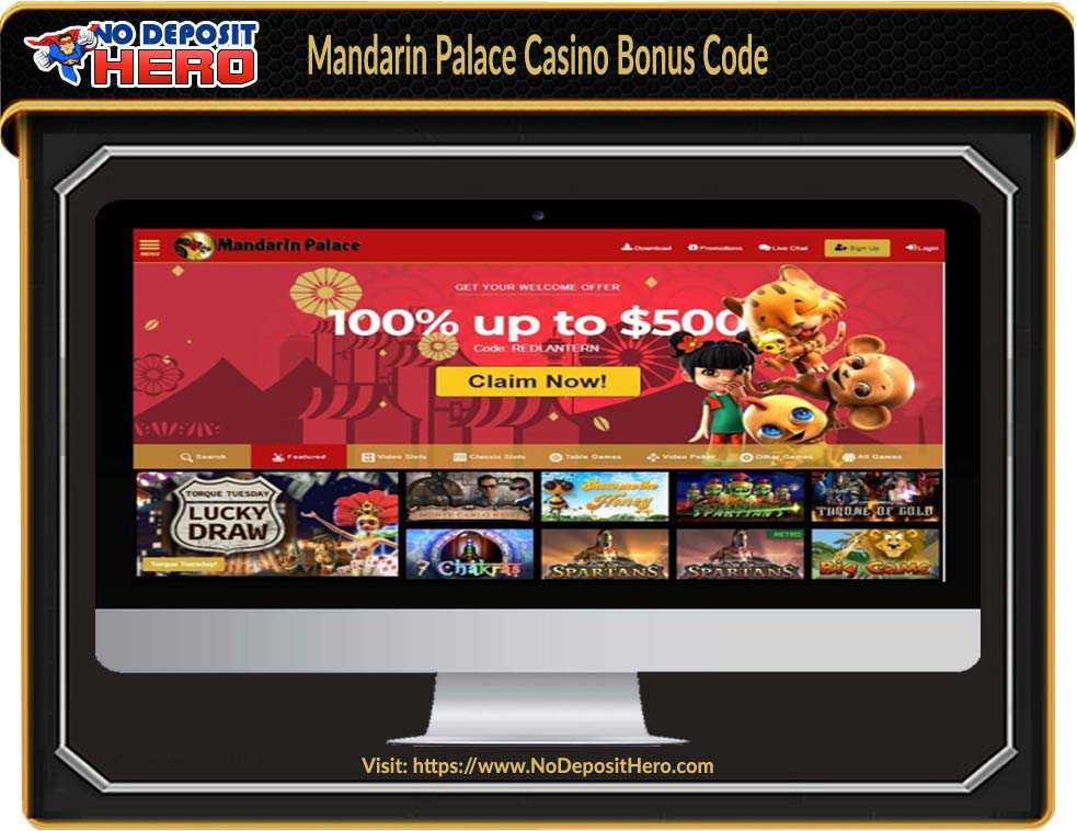 Mandarin Palace Casino Bonus Code
