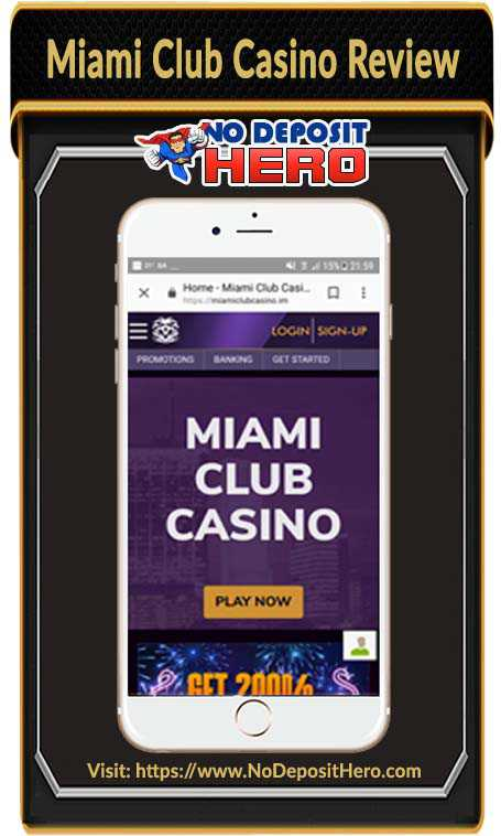Miami Club Casino Bonus Code