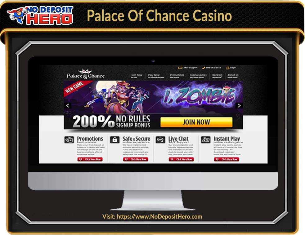Palace Of Chance Casino No Deposit Bonus Code