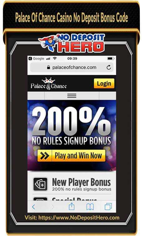 Palace Of Chance Casino Bonus Code