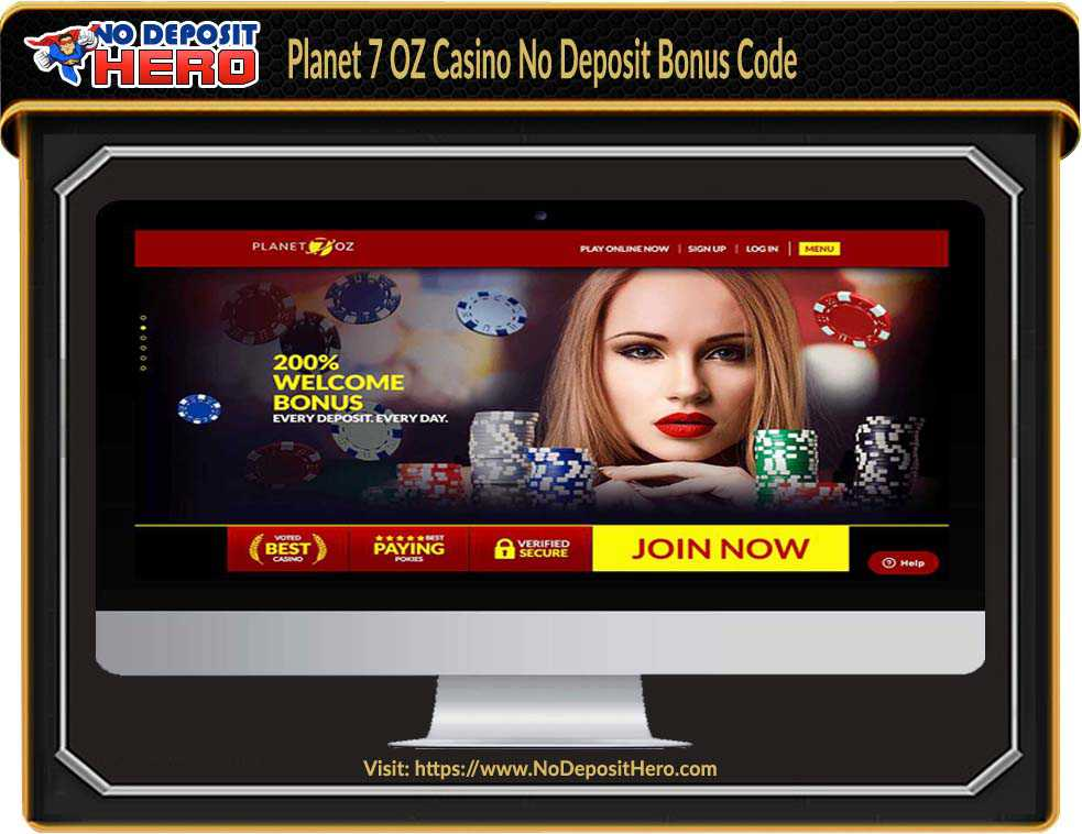 Planet 7 Oz Casino Bonus Code