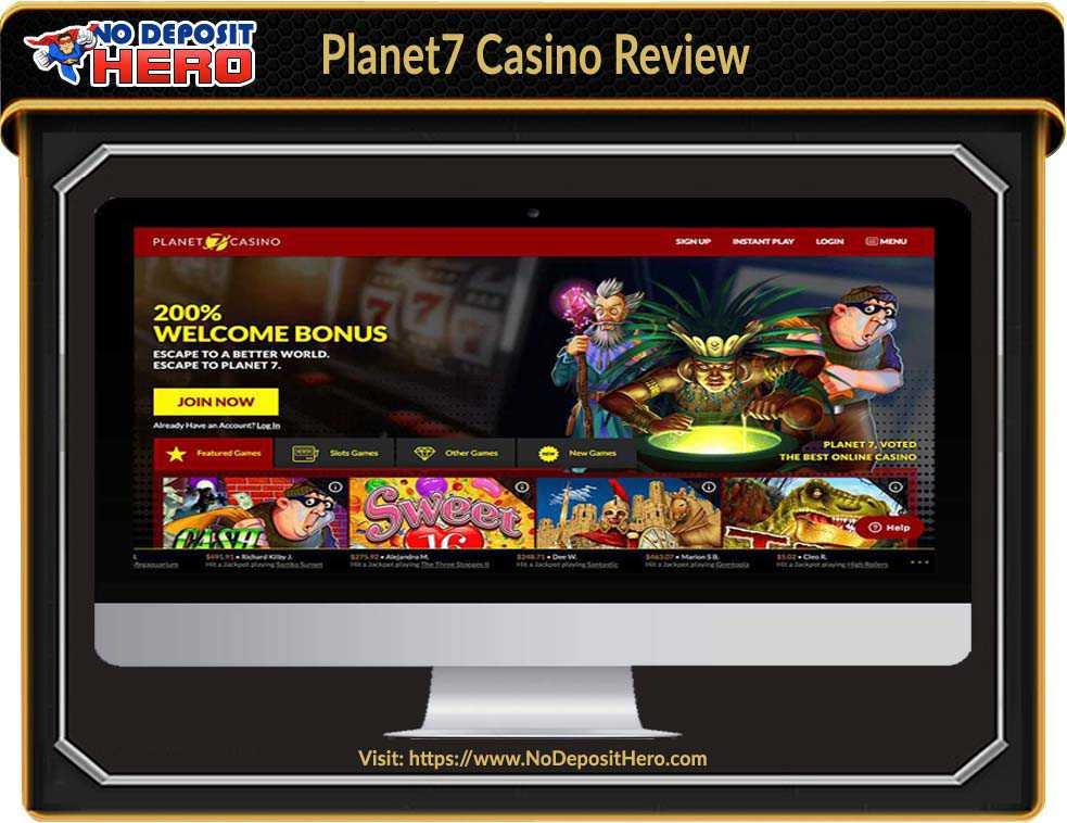 Planet7 Casino Bonus Code