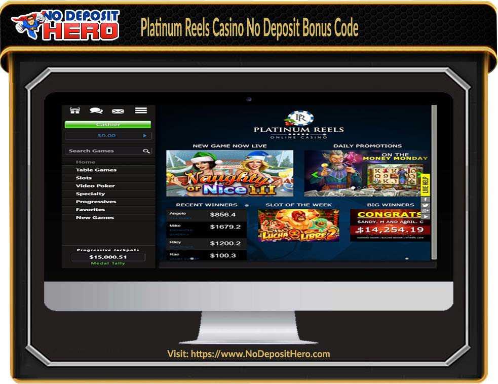 Platinum Reels Casino No Deposit Bonus Code