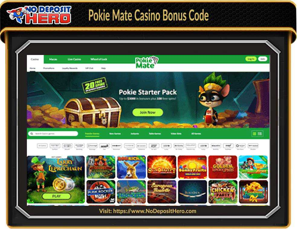 Pokie Mate Casino No Deposit Bonus Code