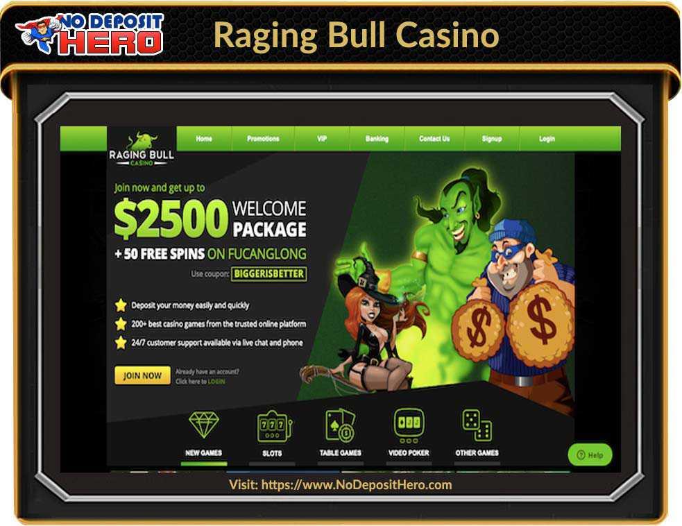 Raging Bull Casino No Deposit Bonus Code