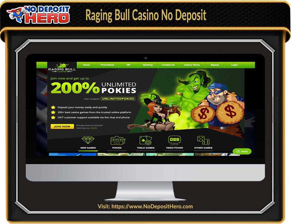 Raging Bull Casino Bonus Code