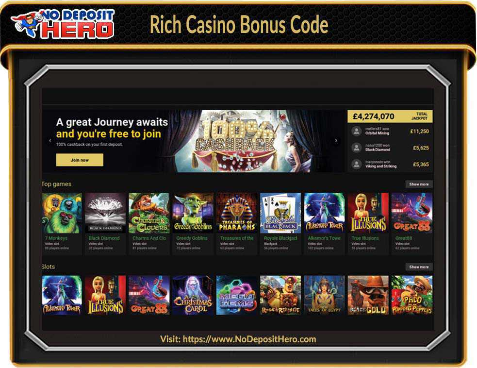 Rich Casino No Deposit
