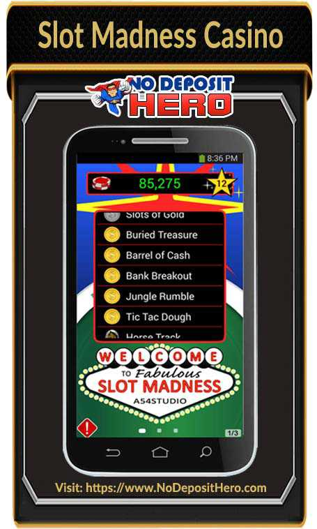 Slot Madness Casino No Deposit