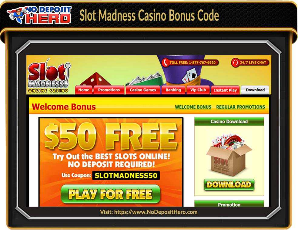 Slot Madness Casino No Deposit Bonus Code
