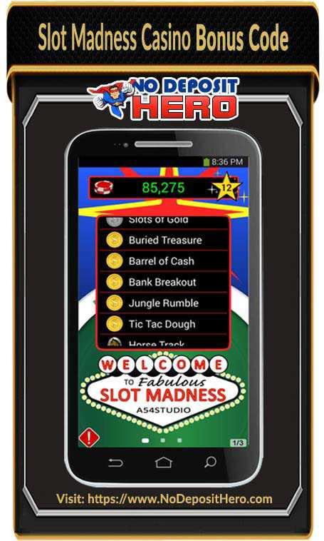 Slot Madness Casino No Deposit
