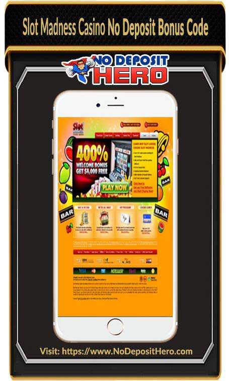 Slot Madness Casino Bonus Code