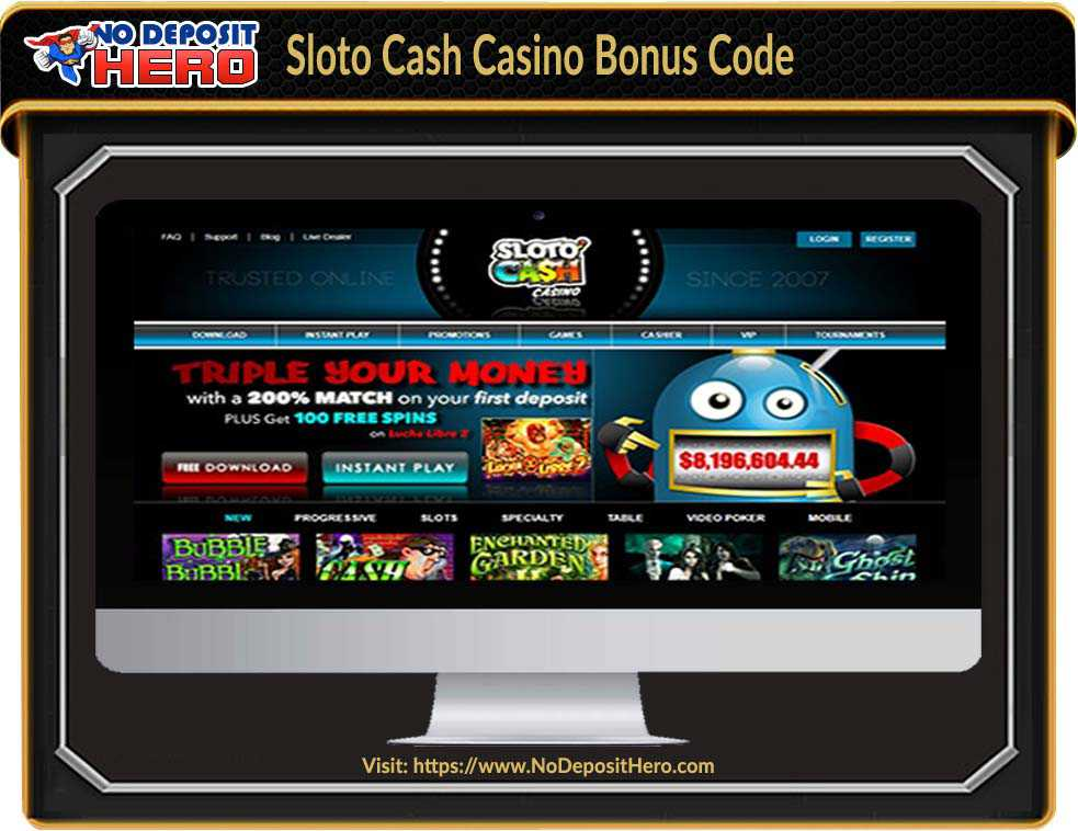 Sloto Cash Casino No Deposit