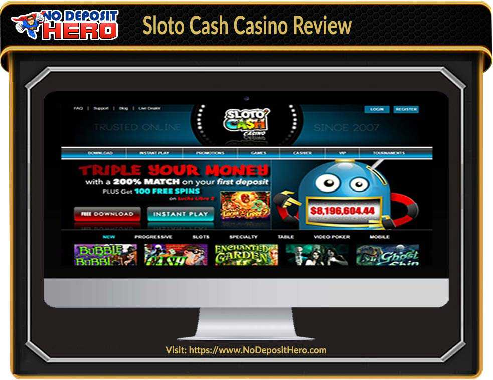 Sloto Cash Casino No Deposit Bonus Code