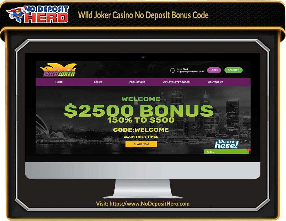 Wild Joker Casino No Deposit Bonus Code